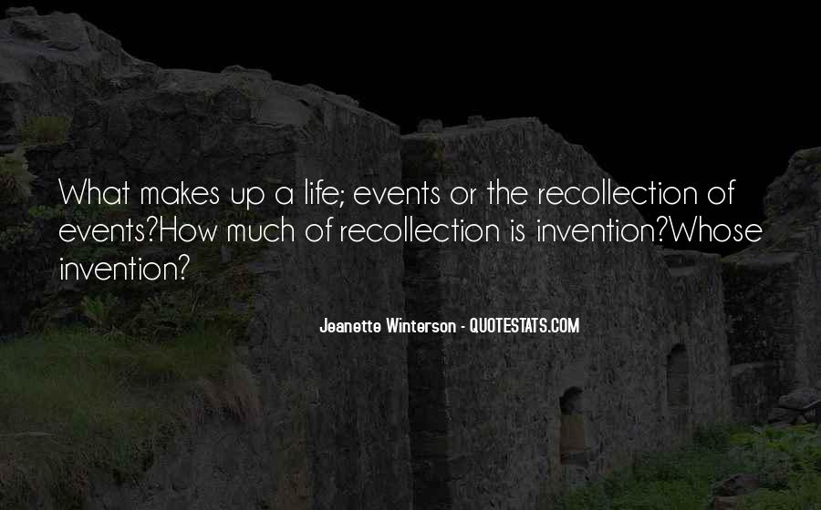 Life Recollection Quotes #79678
