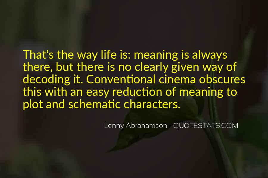 Life With Meaning Quotes #207527