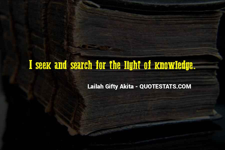Light Of Knowledge Quotes #343971