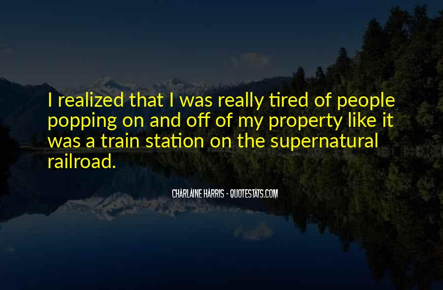 Like A Train Quotes #340908
