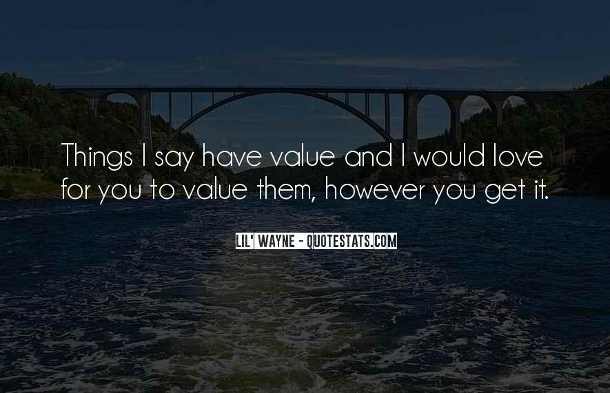 Lil Wayne No Love Quotes #89590