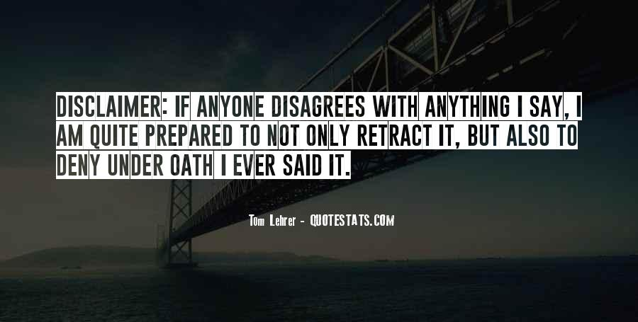 Quotes About Disclaimer #1010475
