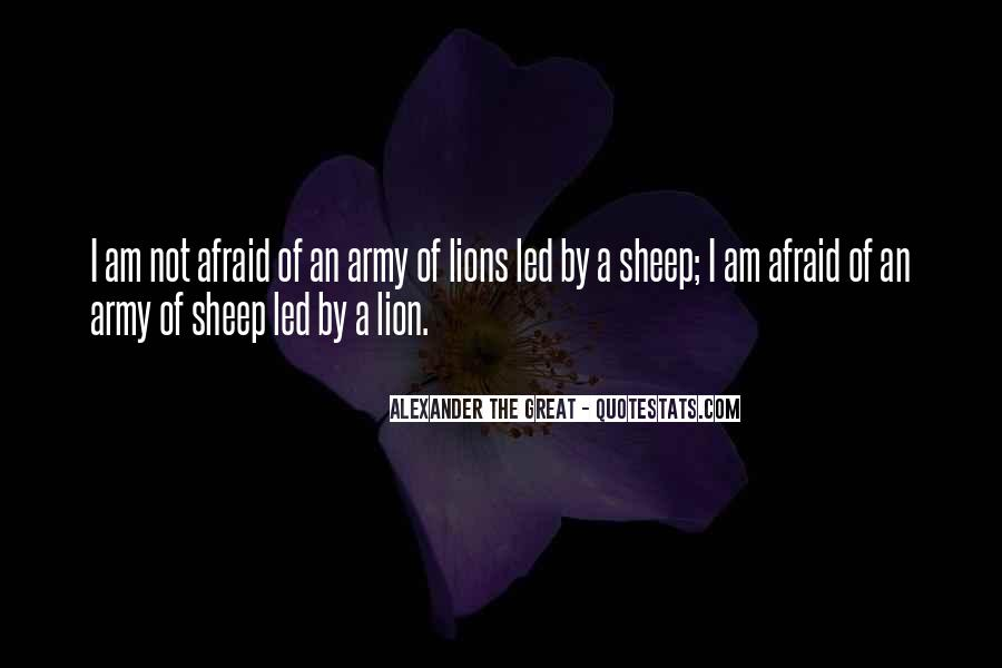 Lions Vs Sheep Quotes #1211499