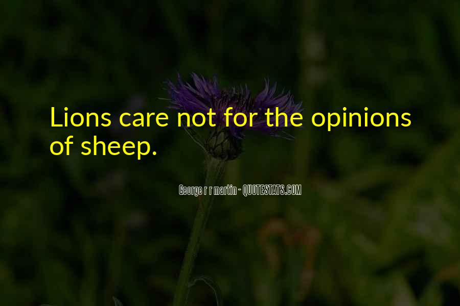 Lions Vs Sheep Quotes #535898