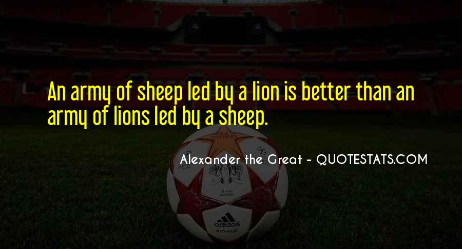 Lions Vs Sheep Quotes #792130