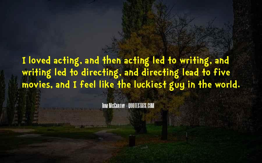 Quotes About Directing Movies #184030