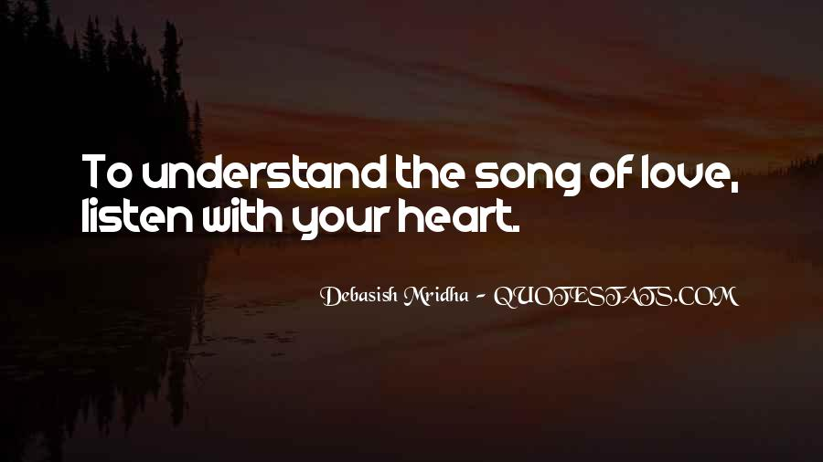 Listen Song Quotes #279827