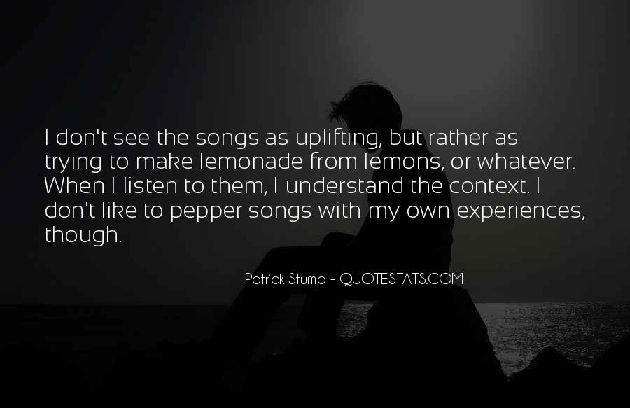 Listen Song Quotes #600743