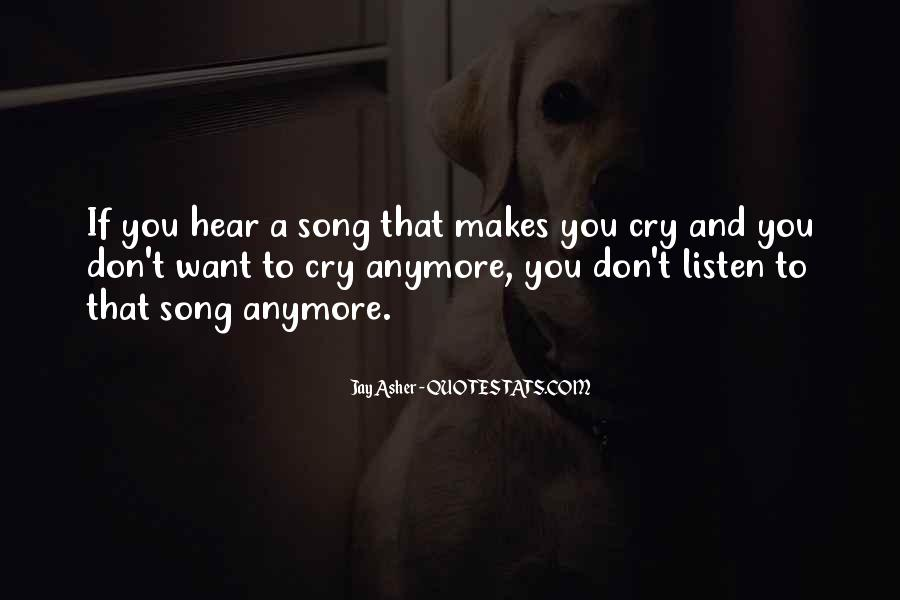 Listen Song Quotes #614831