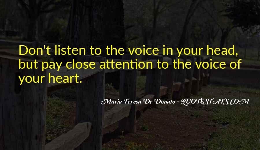 Listen To Heart Or Head Quotes #207946