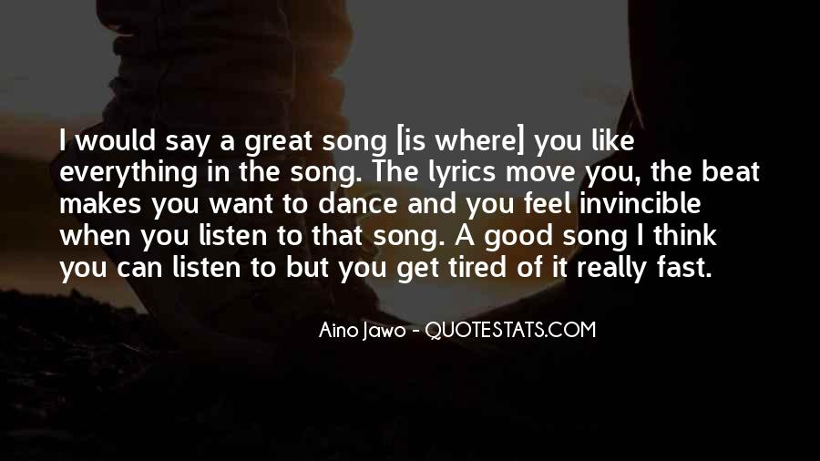 Listen To Song Quotes #209401