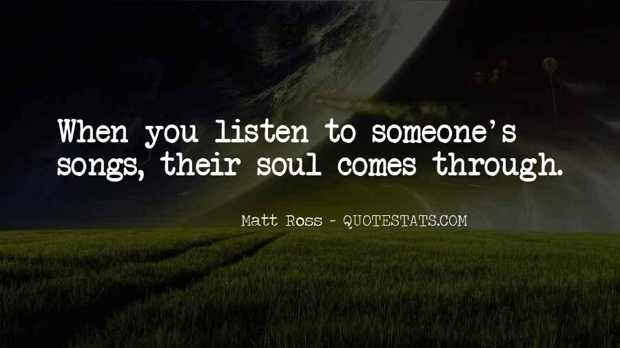 Listen To Song Quotes #33749