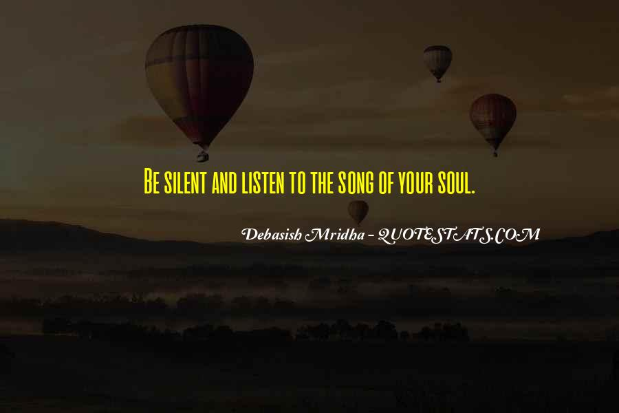 Listen To Song Quotes #366238