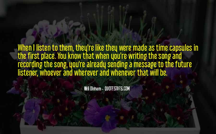 Listen To Song Quotes #559596