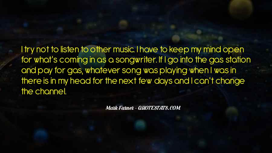 Listen To Song Quotes #576360