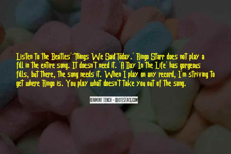 Listen To Song Quotes #577326