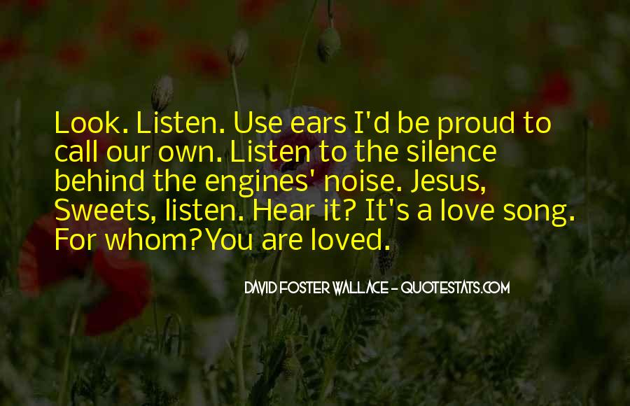 Listen To Song Quotes #595436