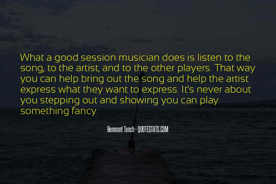 Listen To Song Quotes #680626