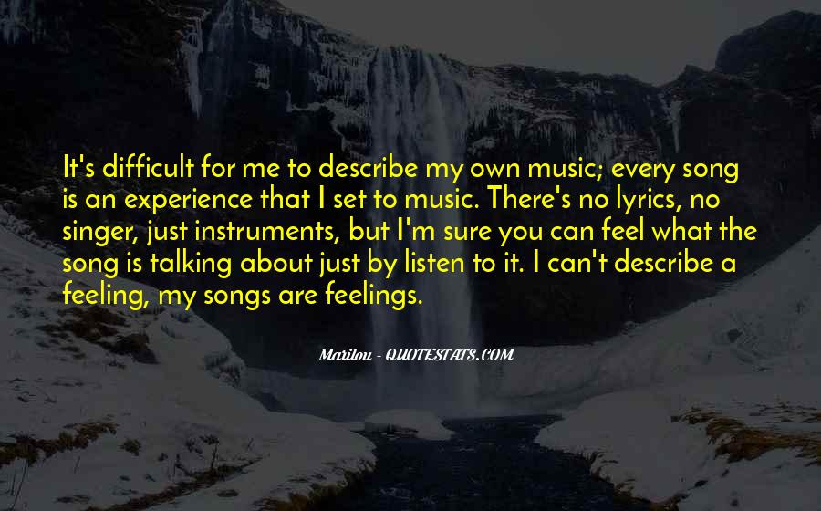 Listen To Song Quotes #749058
