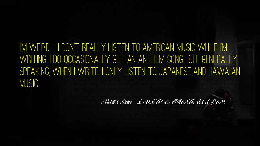 Listen To Song Quotes #76976
