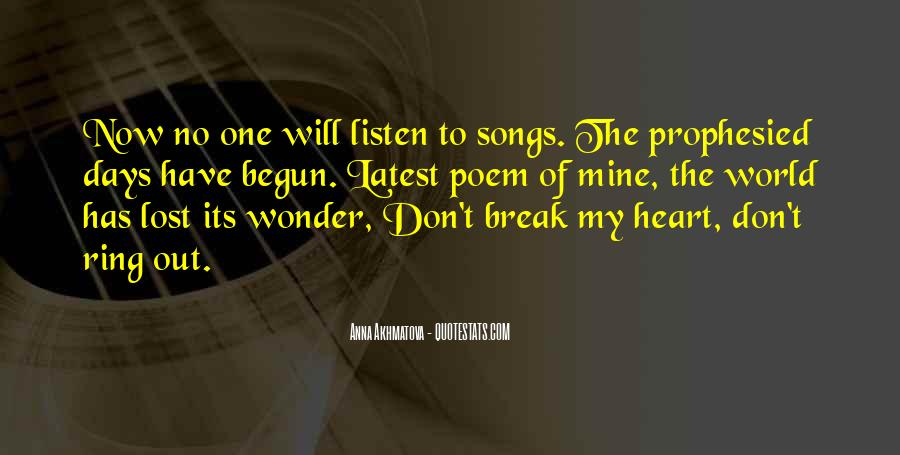 Listen To Song Quotes #8014