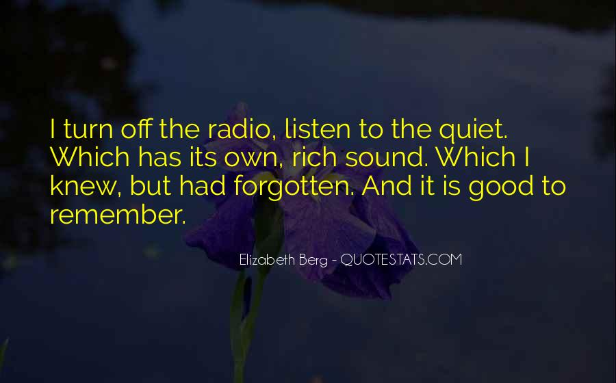 Listen To The Sound Of Silence Quotes #541565