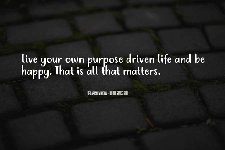 Live A Life That Matters Quotes #1776175