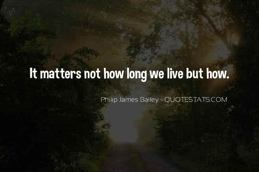 Live A Life That Matters Quotes #217175