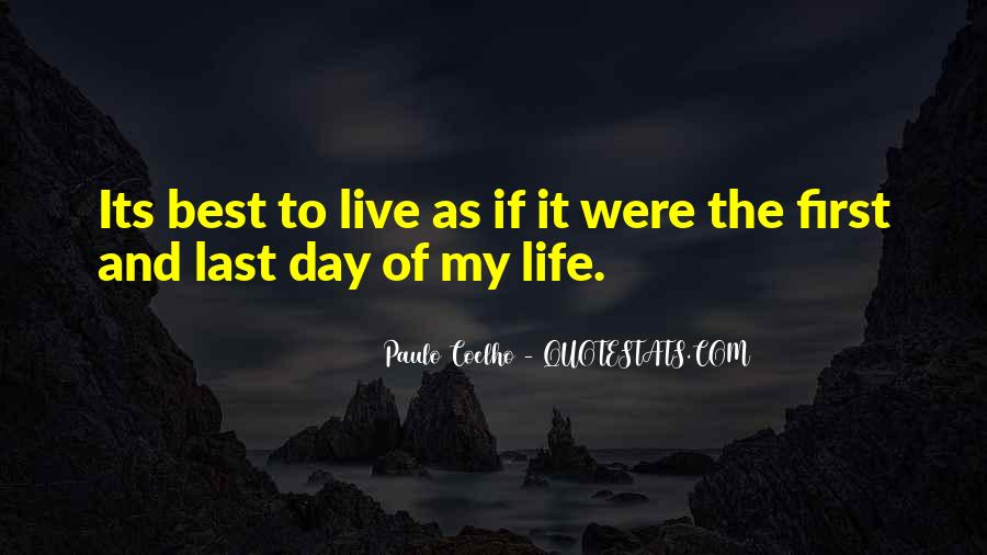 Live Life Best Quotes #366511