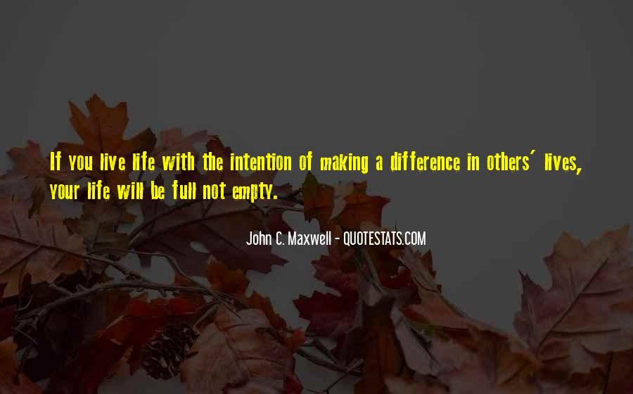 Live Life With Intention Quotes #1443166