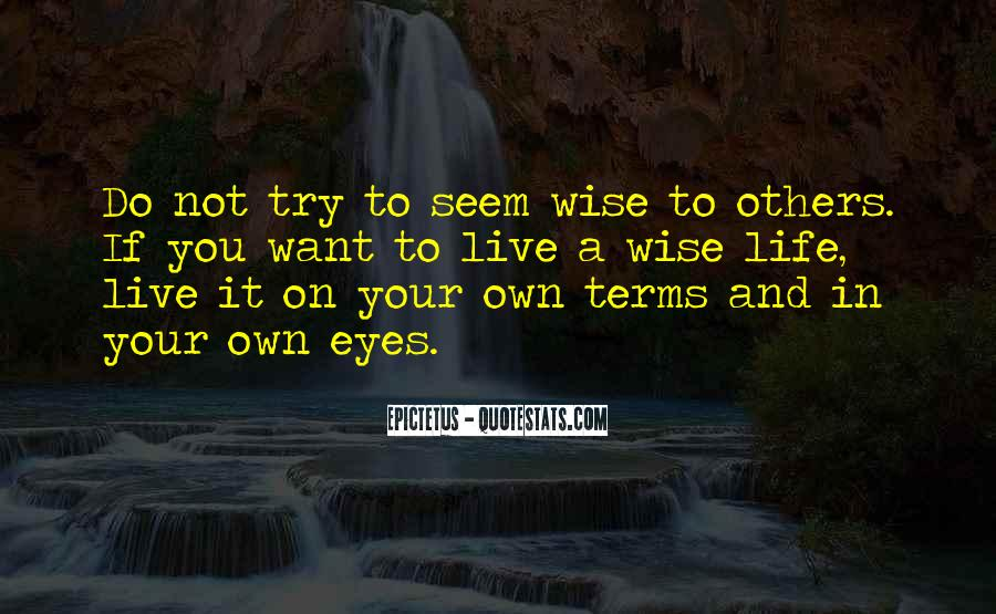 Live Your Own Life Quotes #300163