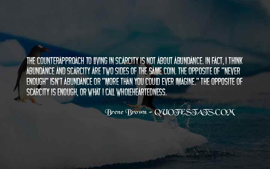 Living In Abundance Quotes #1175165