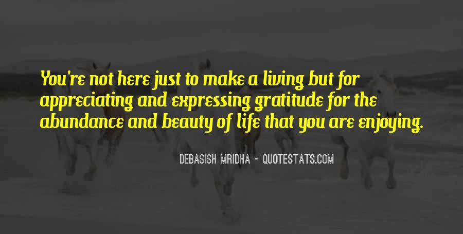 Living In Abundance Quotes #1566784