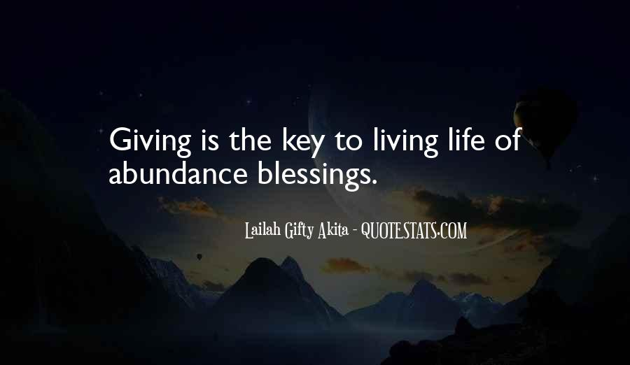 Living In Abundance Quotes #1579379