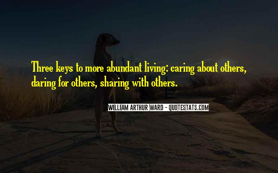 Living In Abundance Quotes #1663532