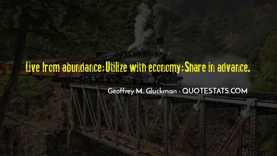 Living In Abundance Quotes #202412