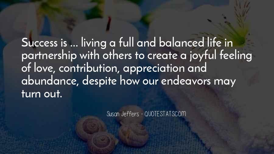 Living In Abundance Quotes #244021