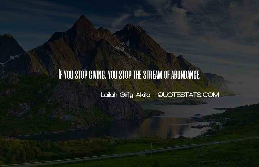 Living In Abundance Quotes #328479