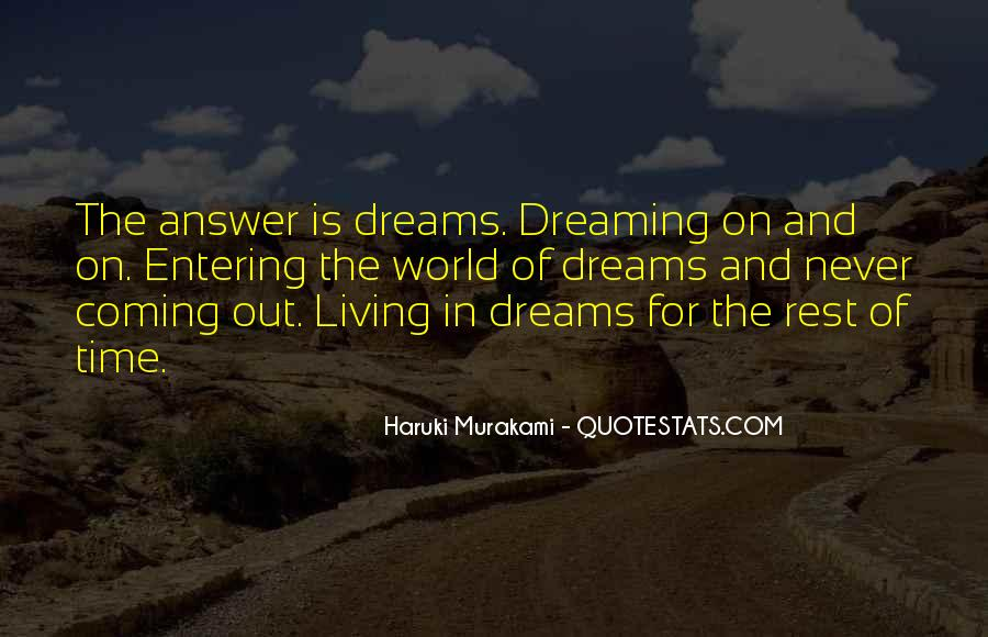 Living In Dreams Quotes #1036376
