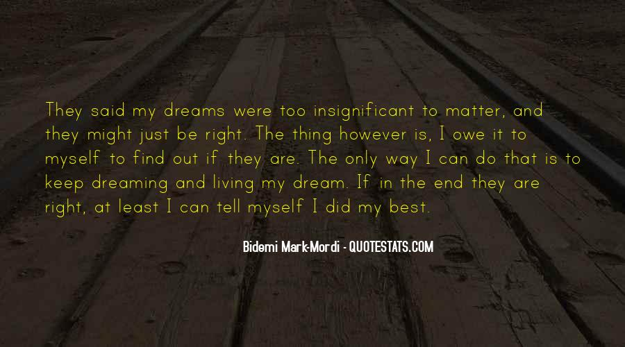 Living In Dreams Quotes #993936