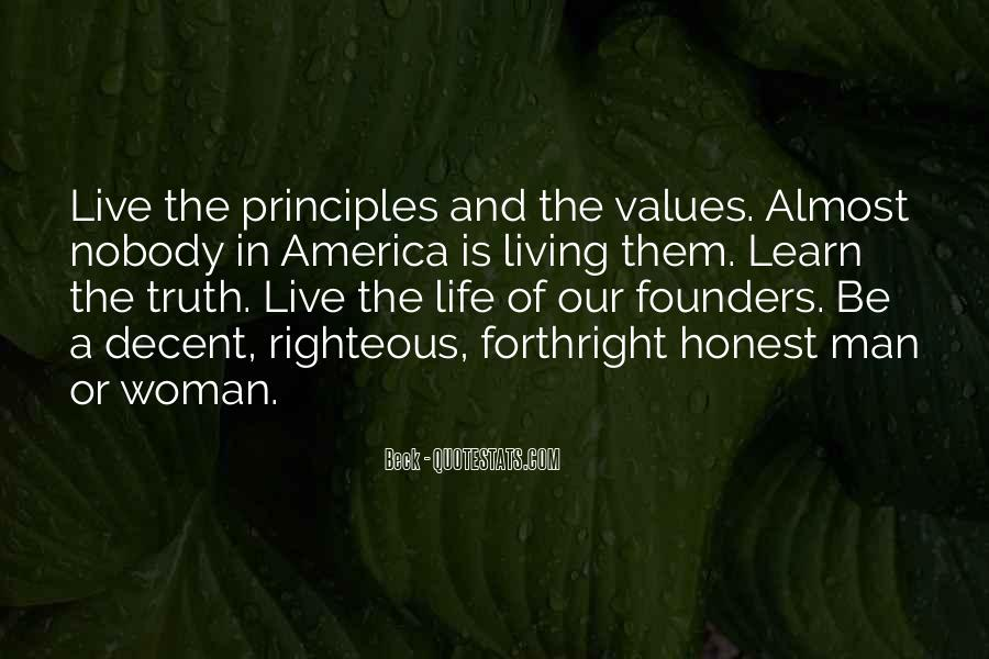 Living Our Values Quotes #1690138