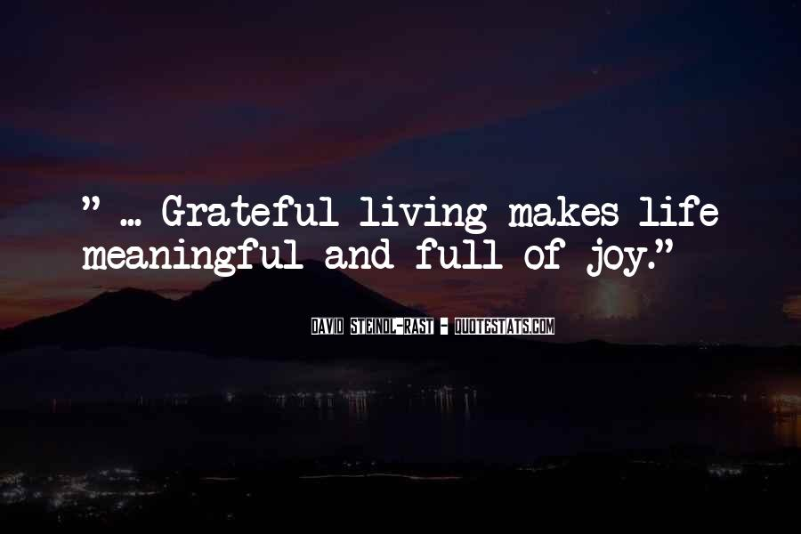 Living With Gratitude Quotes #332885