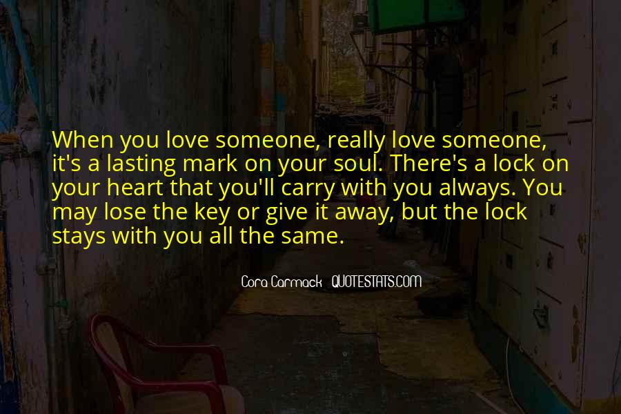 Lock And Key Heart Quotes #1656033