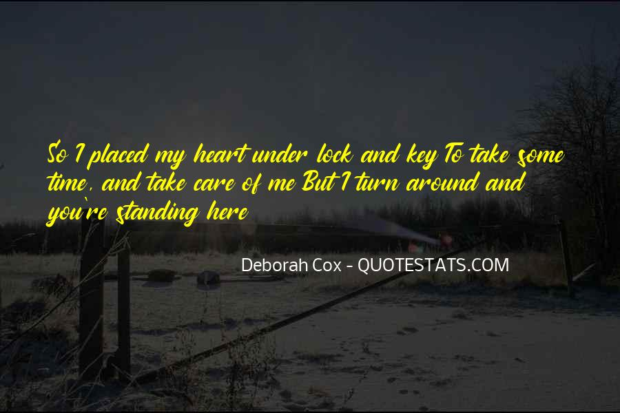Lock And Key Heart Quotes #987531