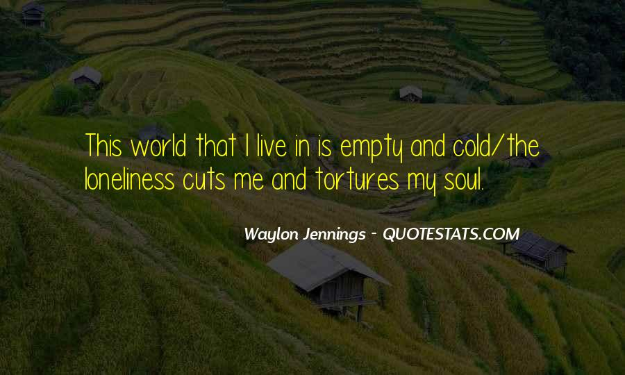 Lonely And Cold Quotes #221549