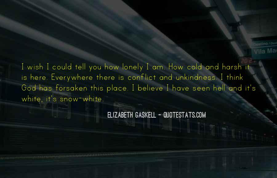 Lonely And Cold Quotes #296881