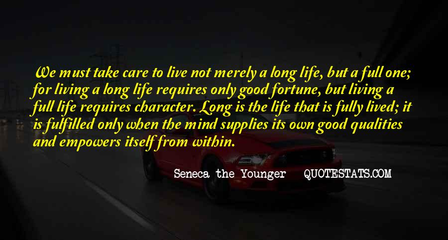 Long Life Lived Quotes #1716790