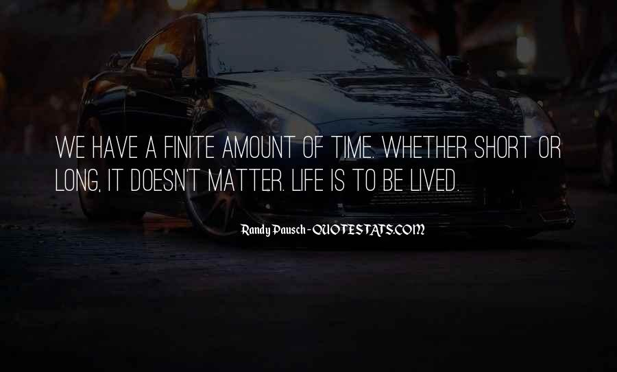 Long Life Lived Quotes #182091