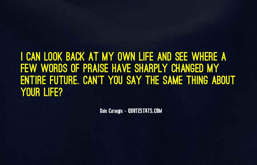 Look At Your Own Life Quotes #1328006