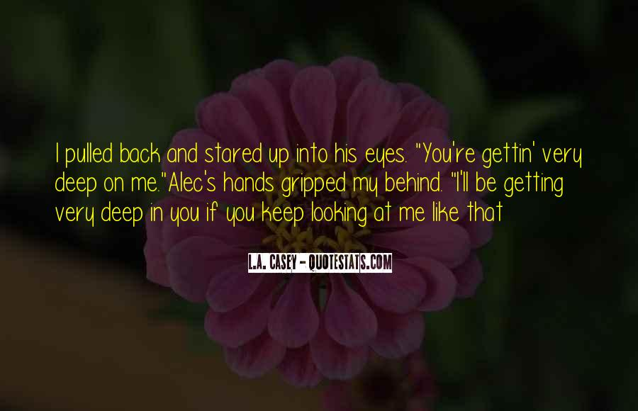 Looking Behind Quotes #105434